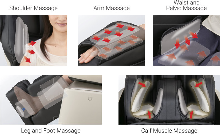 Airbag Massage Chair Technology at Pursue Fitness